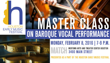 Houston Early Music Festival - Master Class
